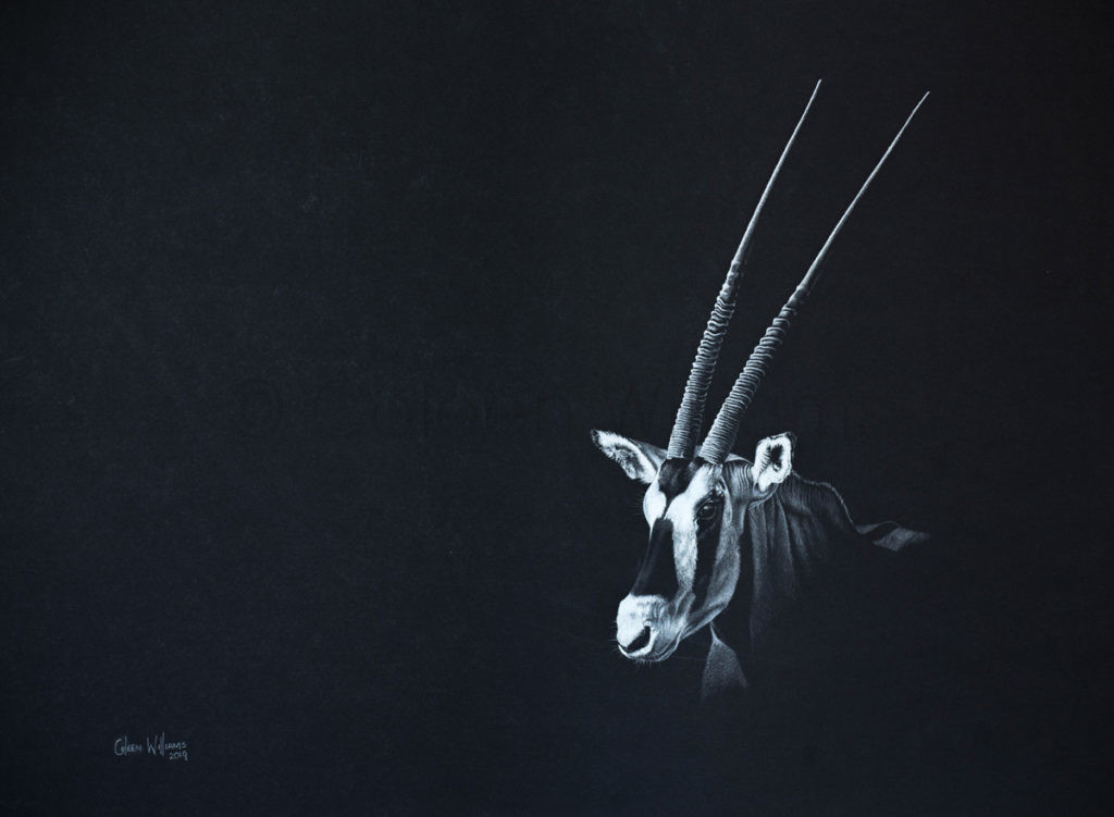 ColArt - Art by Coleen Williams - Swords of Light 1 - Gemsbok
