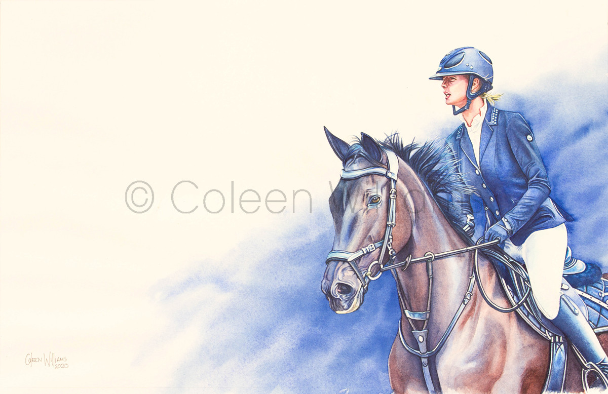 ColArt - Art by Coleen Williams - Ivory - Horse