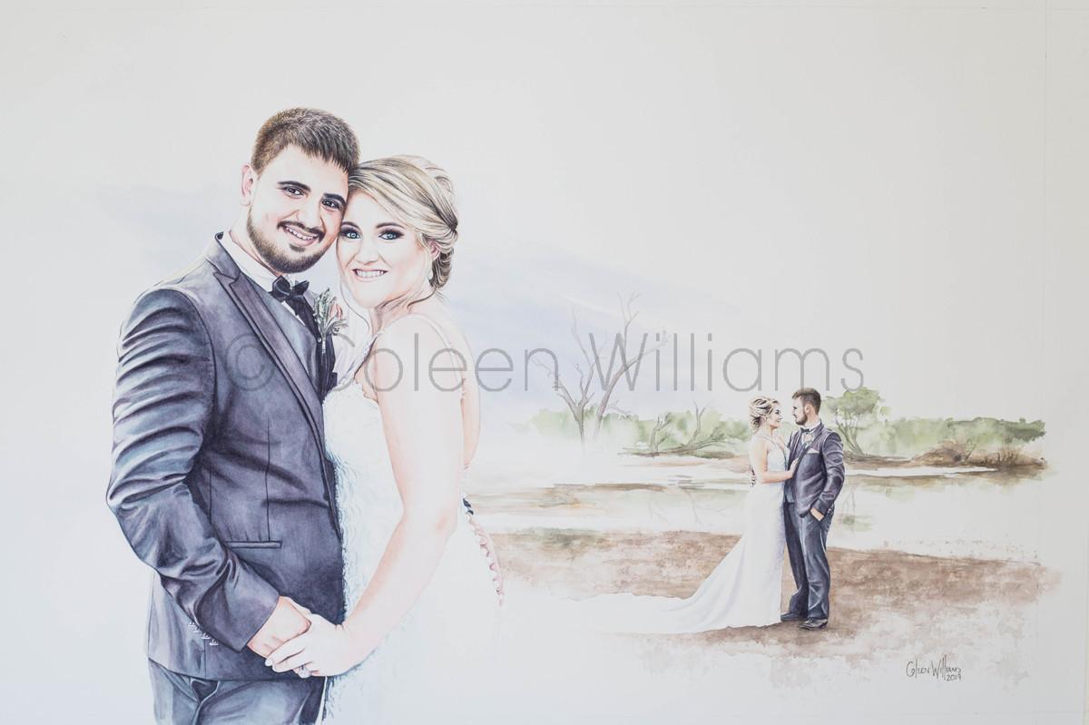 ColArt - Art by Coleen Williams - Wedding Portrait