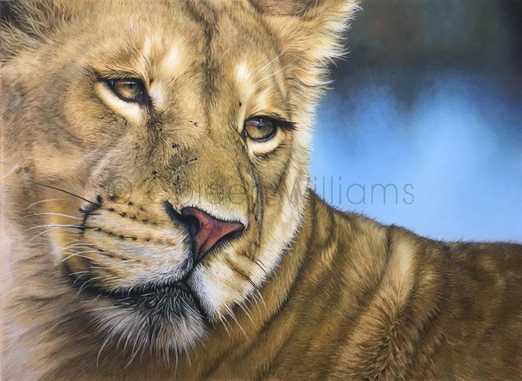ColArt - Art by Coleen Williams - Teenage Queenie - Lioness