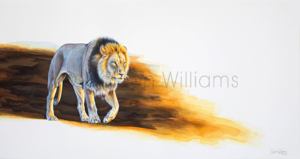 ColArt - Art by Coleen Williams - Coming Home - Lion